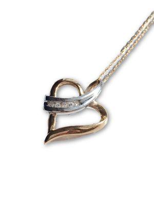 10k diamond necklace for Sale in Alexandria, VA