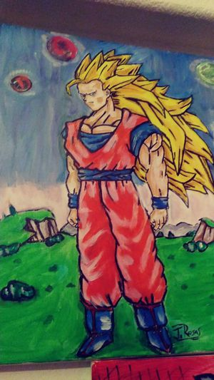 Goku ss3 painting for Sale in Scottsdale, AZ
