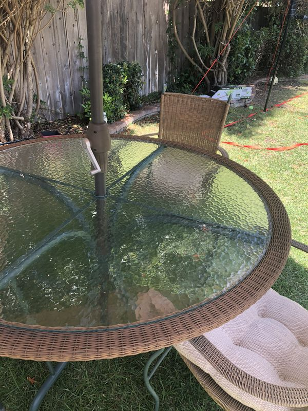 Patio table and 3 chairs set ( umbrella not included)