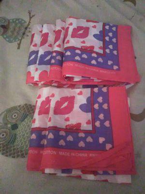 Set of 6 lip/heart bandanas for Sale in Lakeland, FL