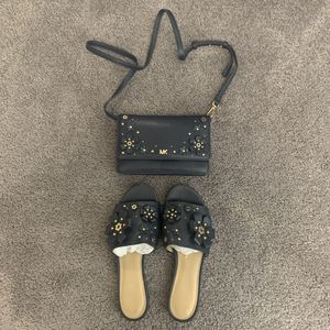 Michael Kors crossbody wallet & sandal for Sale in Las Vegas, NV