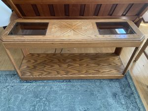 Solid Oak Console Table (for behind couch or for room divider) for Sale in San Francisco, CA