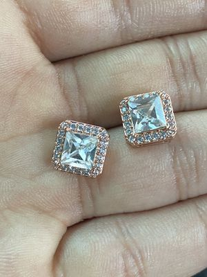 Rose gold diamond earrings for Sale in Columbus, OH