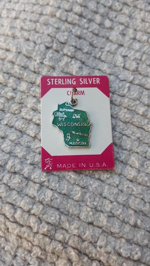 Wisconsin Vintage Sterling Silver Charm for Sale in Chandler, AZ
