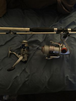 Fishing rod and 2 reels good condition for Sale in Los Angeles, CA