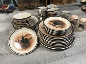 Western theme dishes for Sale in Beaumont, TX