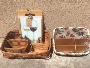 Collectible Longaberger baskets. Hand made in USA. for Sale in Huntington Beach, CA
