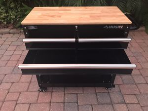 """Brand New 36"""" Husky Rolling Tool Cart with 3 Ball Bearing Drawers for Sale in Land O' Lakes, FL"""