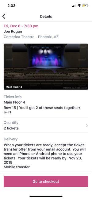 Joe Rogan Tickets Stand Up Comerica Theatre for Sale in Tempe, AZ