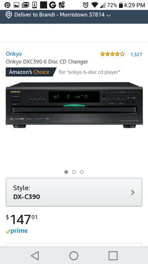 Onkyo 6 disc CD for Sale in Morristown, TN