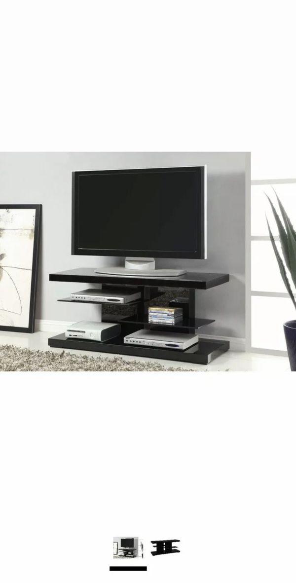 Coaster Home Furnishings 2-Shelf TV Console Glossy Black