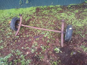 Are you looking to build a small trailer i have Boat axle and a spair tire for Sale in Vancouver, WA