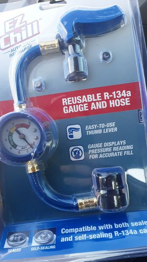 New EZ CHILL REUSABLE R-134A GAUGE AND HOSE for Sale in Glendale, AZ