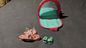 Bitty Baby Beach Sun Shade, swimming suit, and flip flops for Sale in Mesa, AZ