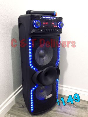 Extra Bass • Extra Loud • Portable & Rechargeable • New In Box • 2 🎤 Included • 9,000 Watts* 💥 Mucho Party for Sale in Carson, CA
