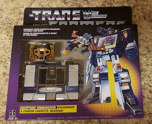 Hasbro Toys Transformers G1 Reissue Soundwave Decepticon Buzzsaw New 2019 for Sale in Aurora, CO