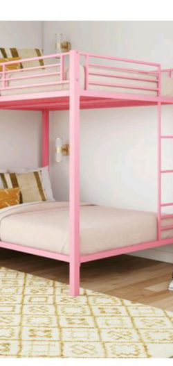 Full Over Full Pink Bunk Bed for Sale in Gambrills,  MD