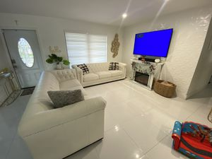 Modern White couches sofa both for Sale in Cutler Bay, FL