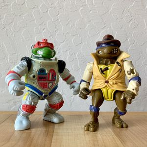 Vintage Teenage Mutant Ninja Turtles Raph the Space Cadet & Undercover Don Action Figure TMNT Toy Lot of 2 for Sale in Elizabethtown, PA
