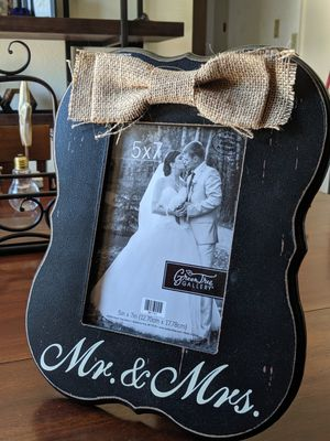 Rustic wedding picture frame for Sale in San Angelo, TX