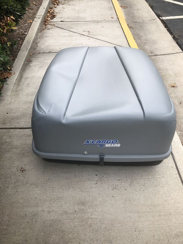Sears X cargo top of car storage bin unit with hardware and keys