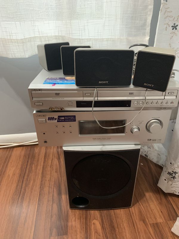 Sony Stereo Receiver, DVD, and VHS Player