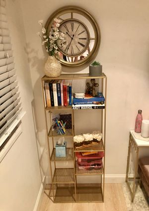 Gold Geometric Shelf Unit with 8 shelves for Sale in Beverly Hills, CA