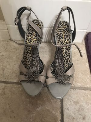 Jessica Simpson heels with fringe detail for Sale in Las Vegas, NV