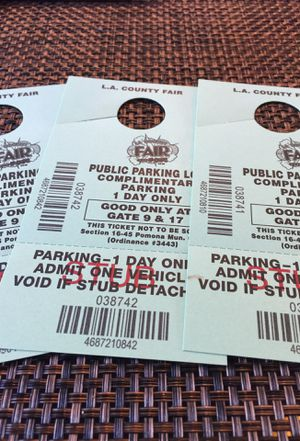 L.A. County Fair Parking ticket's for Sale in Hacienda Heights, CA