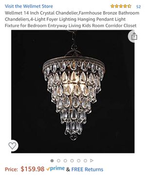 """New Crystal Chandelier 14"""" for Sale in Irvine, CA"""