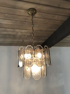 Etched Glass Ceiling Light Fixture for Sale in San Diego, CA