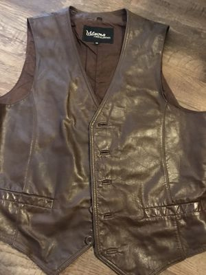 Brown Leather motorcycle vest for Sale in Houston, TX