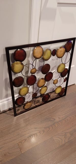"Metal wall art decor 24"" square for Sale in Washington, DC"