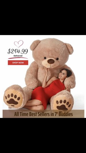 "7""Giant teddy bear for Sale in Lauderhill, FL"