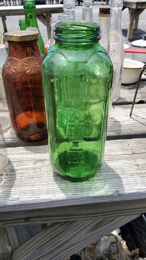 Green quart water/juice glass bottle for Sale in Elizabethton, TN
