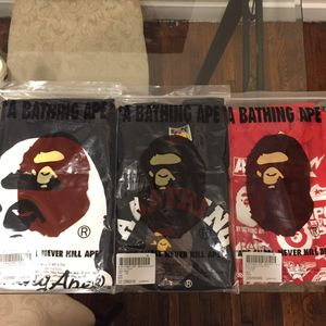 3 authentic bape tees for Sale in Columbus, OH