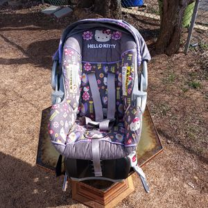 Hello Kitty Car Seat With Removable Carrier for Sale in Philadelphia, PA