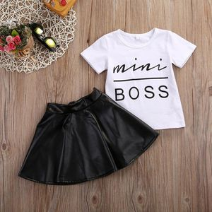Toddler Clothes Fashion Cute Girls Mini Boss Set T-Shirt Top Skirt Dress Kids Clothing Outfit for Sale in Huntington Beach, CA