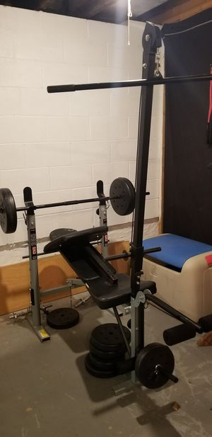 Weight bench w/weights for Sale in Apollo, PA