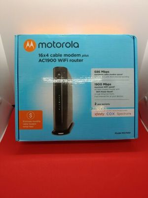 New Motorola AC1900 Cable Gateway Modem - Black (MG7550-10) for Sale in Houston, TX
