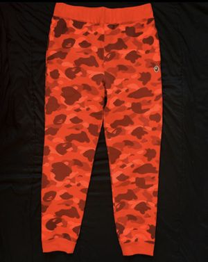 Bape Color Camo Red Sweatpants Online Exclusive for Sale in Taunton, MA