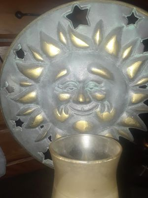 Sun and moon candle holder wall decor for Sale in North Olmsted, OH