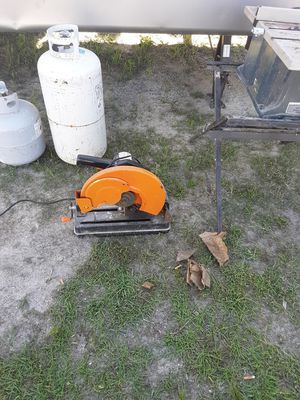 Table saw, chop saw, two TVs, propane tanks tire changer, drill with battery for Sale in Bay Saint Louis, MS