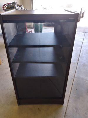 Storage with glass doors 4 shelves for Sale in Phoenix, AZ