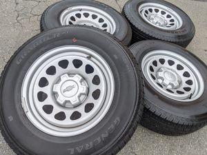 Chevy Silverado Wheels Tires P255 70R17 Rims 255 70 17 GMC Sierra 1500 for Sale in Charlotte, NC