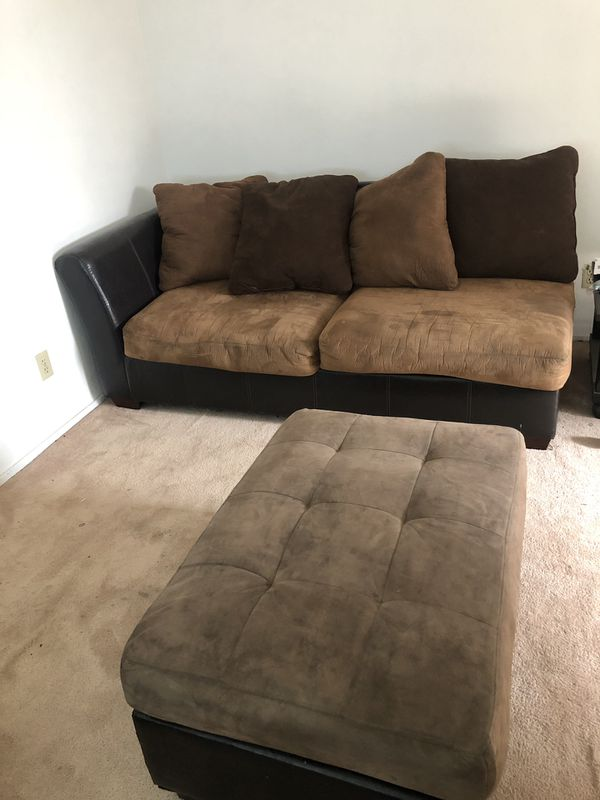 Used mocha and coffee sectional couch
