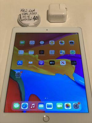 """Apple iPad Air 2,64 GB, A1567, unlocked, for any carrier, WiFi + cellular,9.7"""",Silver/White,Clean imei, Clean iCloud, full function, Good Condition. for Sale in San Leandro, CA"""