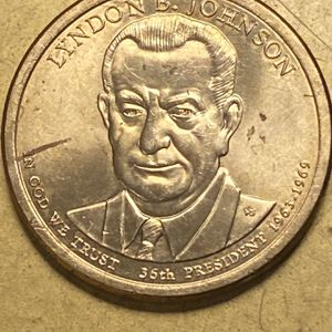 2015-P Lyndon B. Johnson PRESIDENTIAL DOLLAR Cuds & Die Fragments Liberty's 8 Spoked Crown DDO DDR Errors for Sale in Plainfield, IL