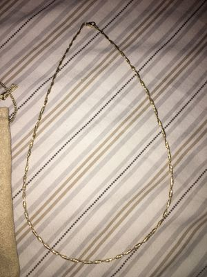 Solid lightweight diamond cut chain stamped 10kt gold beautiful chain 70$ firm pickup pickup very light weight chain for Sale in Elk Grove, CA