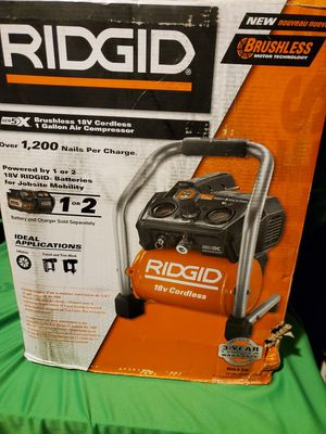 RIDGID GEN5X BRUSHLESS 18V CORDLESS AIR COMPRESSOR NEW IN THE BOX for Sale in Beaumont, CA